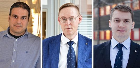 George Nikolakopoulos, Pär-Erik Martinsson och Petter Kyösti